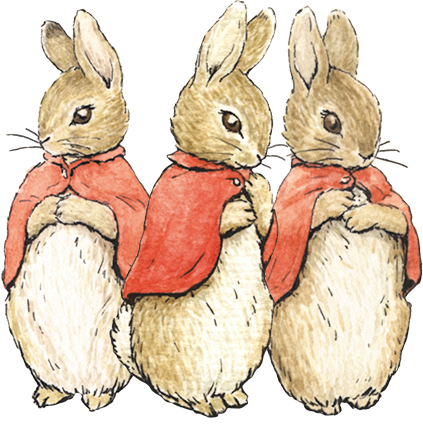 An image of Flopsy, Mopsy and Cotton-tail
