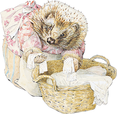 An image of Mrs. Tiggy-winkle
