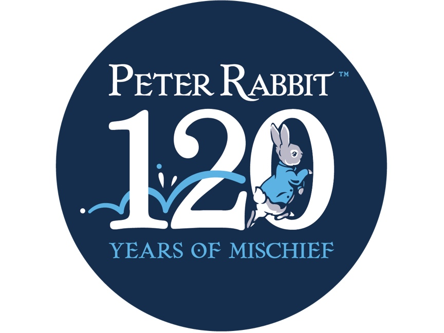 An image to celebrate 120 years of mischief for Peter Rabbit. 2022 marks 120 years since The Tale of Peter Rabbit was first officially published.