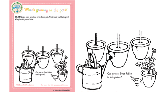 A thumbnail image of the Draw Your Own Vegetables Activity Pack on the Peter Rabbit website
